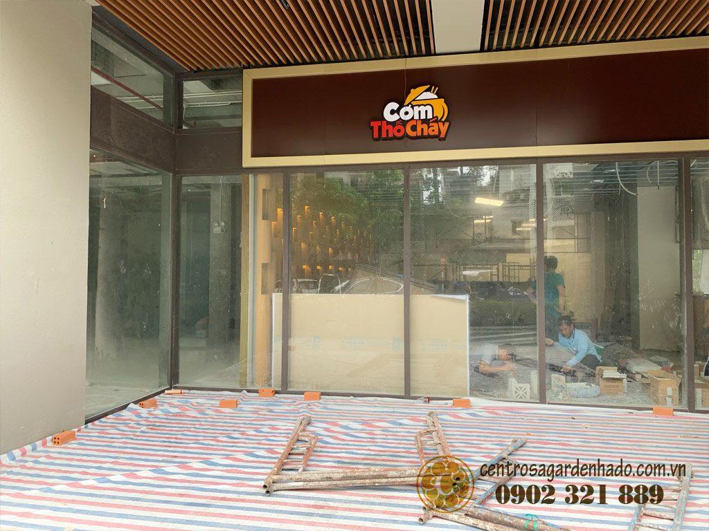 Một góc tiện ích ăn uống chuẩn bị khai trương tại khu căn hộ centrosa garden