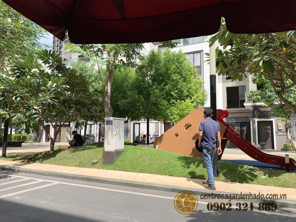 Không gian nội khu Hà Đô Centrosa Garden
