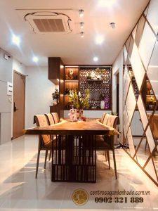phòng ăn căn hộ hado centrosa garden tòa orchid 2