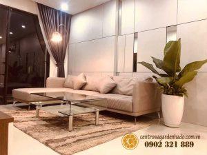 phòng khách căn hộ hado centrosa garden cực đẹp - 2